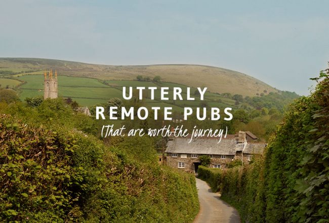 Utterly remote pubs in Britain