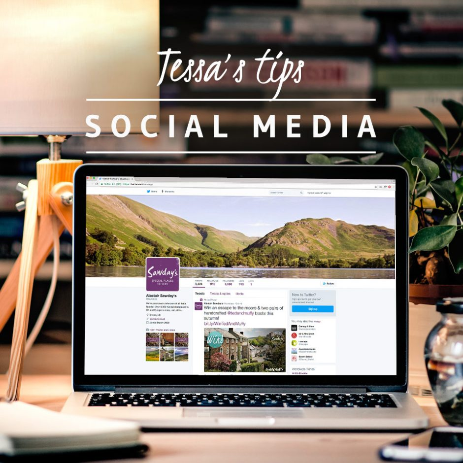Social media tips for Sawday's Owners